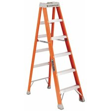 FS1500 Series Fiberglass Step Ladders - 12' advent fiberglass step ladder 300lb.