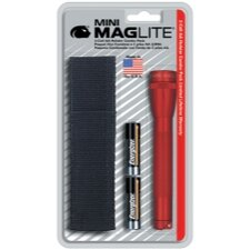 Mini Mag-Lite 2- Cell AA Flashlight w/Batteries and Holster (Red)