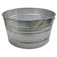<strong>Magnolia Brush</strong> Galvanized Round Tubs - 48.61-qt. galvanized tub