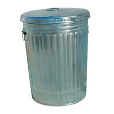 Pre-Galvanized Trash Cans - 20 gallon galvanized trash can with lid