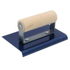 Blue Steel Hand Edgers - 6 x 4 bs edger; 1/2r  5/8l-wood handle