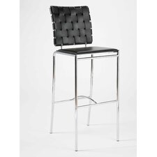 Carlsen Bar Chair in Black