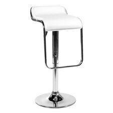 Furgus Adjustable Bar Stool in White