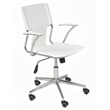 Terry High-Back Leatherette Office Chair with Arms