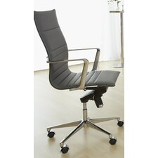 Kyler High-Back Leatherette Office Chair with Arms