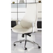 Bergen High-Back Leatherette Office Chair with Arms