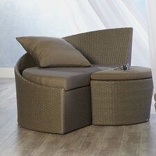 Linda Chaise Lounge and Ottoman with Cushion