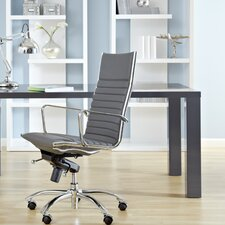 Dirk High-Back Leatherette Office Chair with Arms