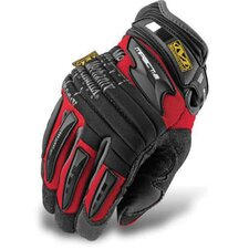 Large Red M-Pact® 2 Mechanics Gloves With Double Layer Synthetic Leather Palm And Spandex Wrist Panel Insert