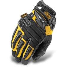 Large Yellow M-Pact® 2 Mechanics Gloves With Double Layer Synthetic Leather Palm And Spandex Wrist Panel Insert