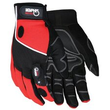 Memphis Glove - Multi-Task Gloves Multi-Task Red Spandex Synthetic Leather  With: 127-924S - multi-task red spandex synthetic leather  with
