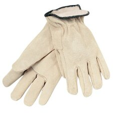 Insulated Drivers Gloves - white fleece lined splitleather glove cream