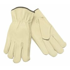 Unlined Drivers Gloves - med. straight thumb grain leather drivers glo
