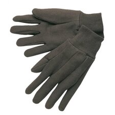Cotton Jersey Gloves - brn jersey knit wrist clute pattern lad