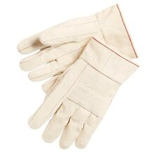 Double Palm and Hot Mill Gloves - 24 oz.100% cotton hot mill gloves knuckle str