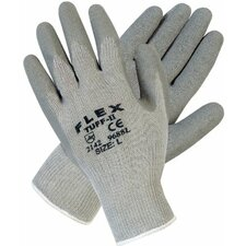 Flex Tuff-II Latex Coated Gloves - medium flex tuff ii graycotton/poly shell 10 gau