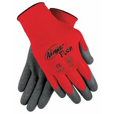 Ninja® Flex Latex Coated Palm Gloves - ninja flex 15 guage red100% nylon shell gray la