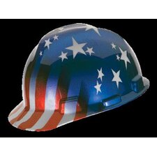 Freedom Series™ Class E Type I Hard Cap With Fas-Trac® Suspension And American Stars And Stripes