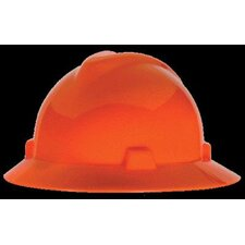 Orange V-Gard® Class E, G Type I Polyethylene Non-Slotted Hard Hat With Staz-On® Suspension