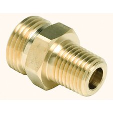 "Union Adapter With 1/4"" NPT X 3/4"" UNF Connections For Use With Premair® Snap-Tite, Duff-Norton, Hansen, Foster And Chrome-Plated Quick-Disconnects In Aluminum, Steel And Brass"