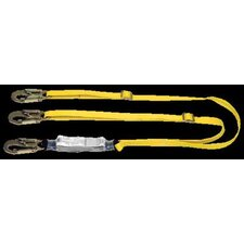 Workman™ Shock-Absorbing Lanyard WIth LC Harness Connection And 2 LC Anchorage Connections