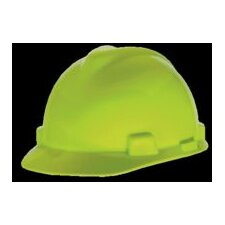Lime Green V-Gard® Class E, G Type I Polyethylene Standard Slotted Hard Cap With Fas-Trac® Suspension