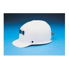 <strong>MSA</strong> White Comfo-Cap® Class G Type I Polycarbonate Plastic Hard Cap With Fas-Trac® Suspension, Lamp Bracket And Cord Holder
