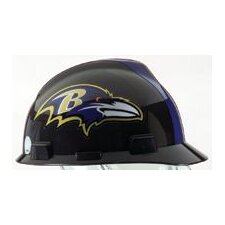 V-Gard® Type I Hard Cap With 1-Touch™ Suspension, Baltimore Ravens Logo And Adjustable Strap