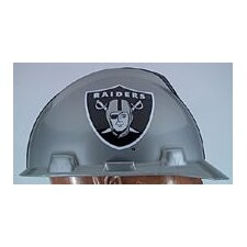 V-Gard® Type I Hard Cap With 1-Touch™ Suspension, Oakland Raiders Logo And Adjustable Strap
