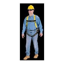 Workman® Vest Style Harness WIth Quik-Fit Chest Strap And Leg Buckles And Back And Hip Attachment Points