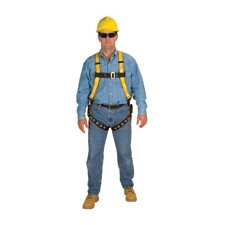 Workman™ Vest Style Harness With Tongue Buckle Leg Strap And Stand Up D Ring