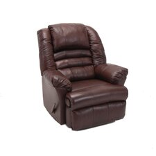 Ridgeland Leather Match Chaise Recliner