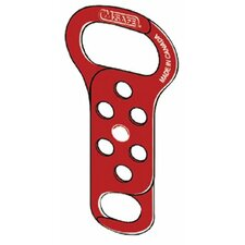 "Lockout Hasps - metal lockout hasp red dual opening  5-1/4"" long"