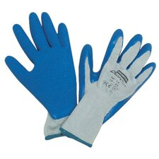 <strong>North Safety</strong> Duro Task Supported Natural Rubber Gloves - durotask gray glove cot/poly blue rubber palm