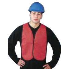 Economical Mesh Traffic Vests - regular hi-viz orange traffic vest velcro clos