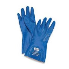 "7 Blue 12"" Nitri-Knit™ Supported Liquid Proof Rough Finish Nitrile Gloves"