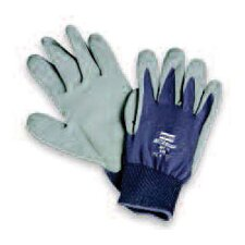 White Seamless Nylon NitriTask Supported Foam Nitrile Gloves With Gray Coating And Knit Wrist