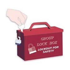 Group Lock Box For Work Team Lockout Situations