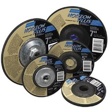 "Type 27 NorZon Plus Depressed Center Grinding Wheels - 7""x1/4""x7/8"" type 27 norzon plus wheel"