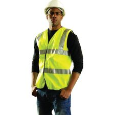 OccuLux® High Visibility Fluorescent Yellow Standard Vest With 3M™ Scotchlite™ Tape & Hood & Loop Closure (Replaced By OCCSSFULLG-Y3X)