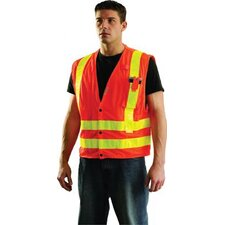 <strong>OccuNomix</strong> Orange OccuLux® L'Orange Mesh Vest With 3M™ Scotchlite® Reflective Tape