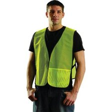 Large Yellow Mesh Vest With No Reflective Tape