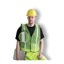 "Regular Yellow Mesh Safety Vest With 1"" Silver Glossy Reflective Tape (Non ANSI Compliant)"