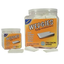 Wedgies™ Installation Shims - the wedgie - white flexible shim - 200 pieces