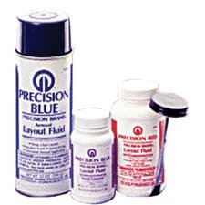 Precision Blue® Layout Fluids - 8 oz blue layout fluid w/brush cap