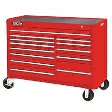 450HS Work Stations - red 13 drawer workstation 57x43""