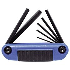 7 Pc. Metric Folding Hex Key Sets - 7pc fold hex key 1.5-6mm