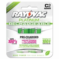 Platinum Rechargeable C NiMH Battery (2 Pack)