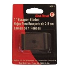 "Single Edge Scraper Blades - 1"" blade fits 3010 wood& paint scrap"