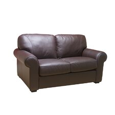Dakota Leather Loveseat